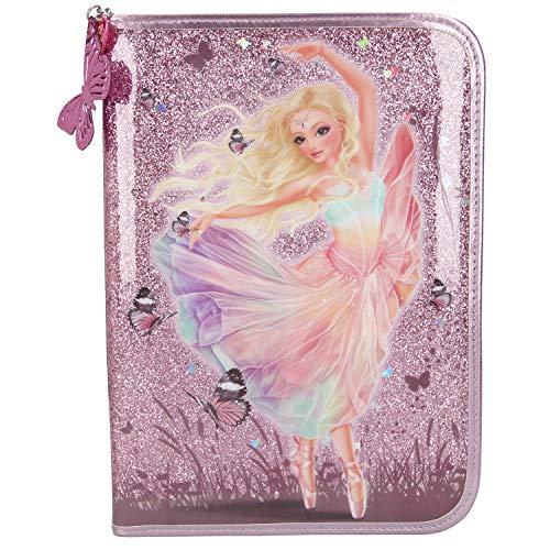 Depesche 10912 Federtasche XXL mit Stiften von Lyra, Fantasy Model Ballett, rosa, ca. 28 x 20 x 4 cm
