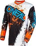 O'NEAL Element Impact FR Jersey Trikot lang schwarz/weiß/orange 2020 Oneal: Größe: M (48/50)
