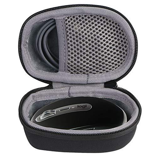 co2CREA Duro Viaggio Caso Custodia per Logitech MX Anywhere 3 / 2S / 2/1 Mouse Wireless Bluetooth(Solo Scatola) (Nero+Grigio)