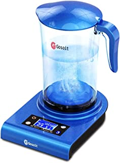 GOSOIT Hydrogen Alkaline Water Pitcher Maker Machine,Hydrogen Water Pitcher with SPE and PEM Technology, US Membrane Make Hydrogen Content up to 800-1200 PPB and of 7.5-9.0 2.0L/70Oz