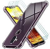 ivoler Klar Hülle für Nokia 8.1 mit 3 Stück Panzerglas Schutzfolie, Dünne Weiche TPU Silikon Transparent Stoßfest Schutzhülle Durchsichtige Kratzfest Handyhülle Hülle