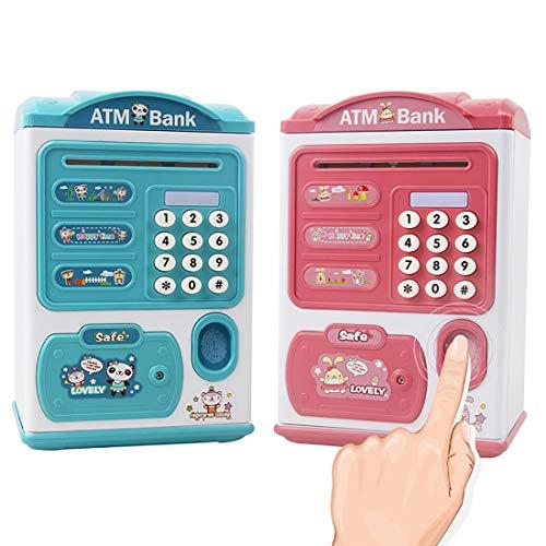 SHATANG Hucha electrónica segura para dinero, dinero en efectivo, monedas de cajero automático, hucha electrónica, cajero automático, contraseña, caja de dinero, dinero en efectivo, caja de ahorro