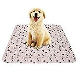 Smandy Pet Pee Pad, 3 Tamaños Reutilizable Impermeable Cachorro Perro Gato Pee Pads Cama Alfombra Lavable Absorbente Mascota Trainging Pads Orina de Perro(80×90cm)