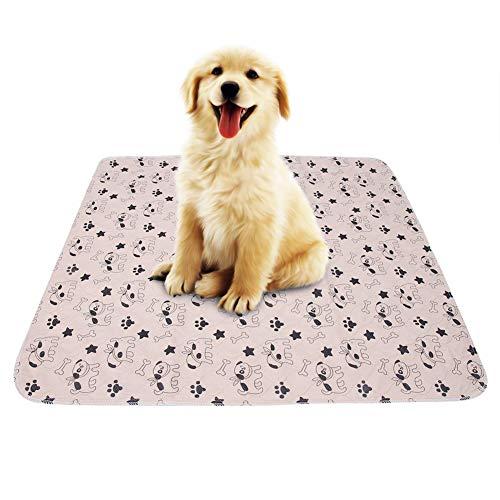 Smandy Pet Pee Pad 3 Größen Wiederverwendbare Wasserdichte Welpen Hund Katze Pee Pads Bett Teppich waschbar saugfähig Haustier Trainging Pads(80 * 90cm)