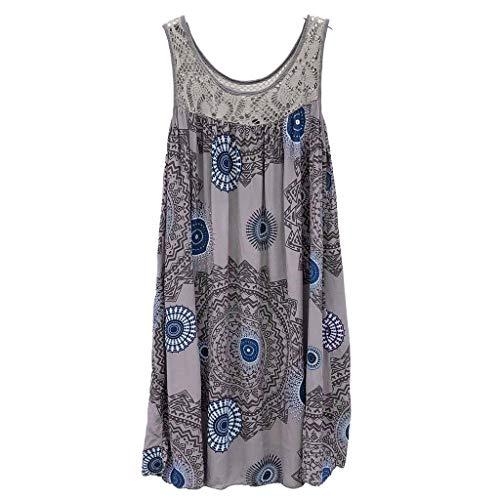 BOLANQ Damen Enges Kleid Sommerkleid Rundhals Kurzarm Kleid Bodycon UnregelmäßIg Minikleid