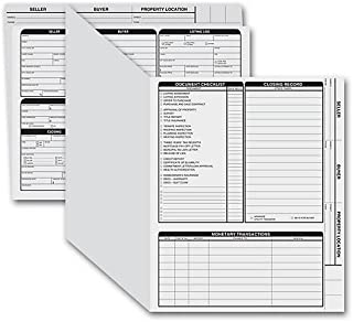 Letter Size Real Estate Listing Folder, Right Panel, Color Choice, 50 Count (Gray)