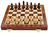 Magnetic Wooden Chess Set, Folding Travel Chess Board Handmade for Kids and Adults 7'