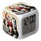 Skisneostype KPOP - Reloj Despertador Digital LED de 7 Colores con diseo de Dibujos Animados para nios