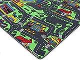 Spielteppich Autoteppich Straßenteppich City - 95x200 cm, Anti-Schmutz-Schicht, Auto-Spielteppich für Mädchen & Jungen, Kinderteppich Strasse Fußbodenheizung geeignet - 7