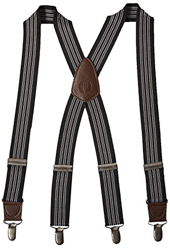 Chef Works unisex adult Berkeley Apron Suspenders Suspenders, Black/Gray, One Size US