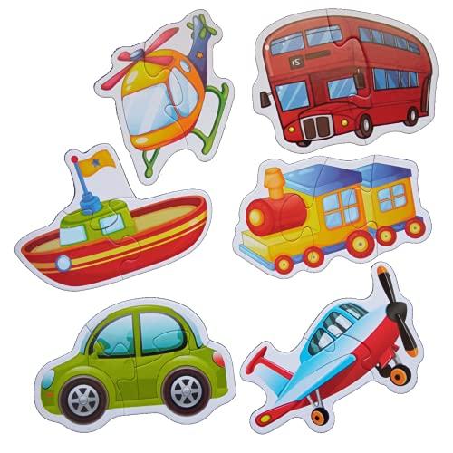 Puzzle de Madera Rompecabezas Coches   Juguetes Bebe Puzzles de Madera Educativos para Bebé   Juguetes niños 1 año hasta 6 años