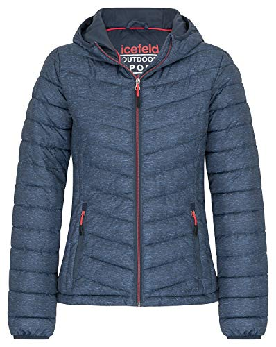 icefeld Damen Jacke/Steppjacke/Isolationsjacke, Marineblau-meliert in L