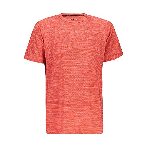 CMP T- Shirt Stretch Con Trattamento Antibatterico Fille, Flame, 140