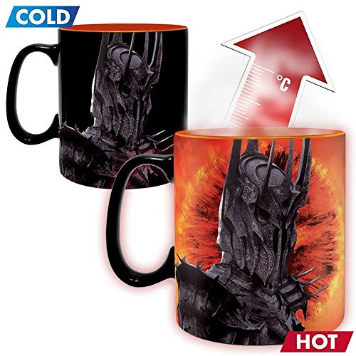 Lord of the Rings - Ceramic Thermal Effect Mug 460 ml - Sauron - A Ring You To Kneten - Gift Box