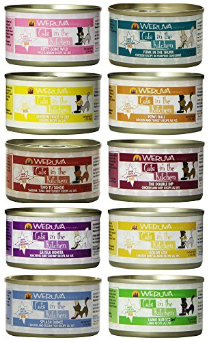 Weruva Grain Free Cats in The Kitchen Canned Cat Food 10 Flavor Variety