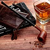 Capo Lily Tobacco Smoking Pipe Set, Handmade Pear Wood Churchwarden Kit with Smoking Accessories