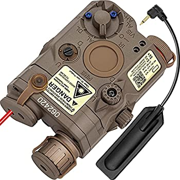 ACTIONUNION Airsoft PEQ 15 PEQ Box IR Laser + Red Laser Sight + White LED Flashlight for AEG GBB CQB  Tan