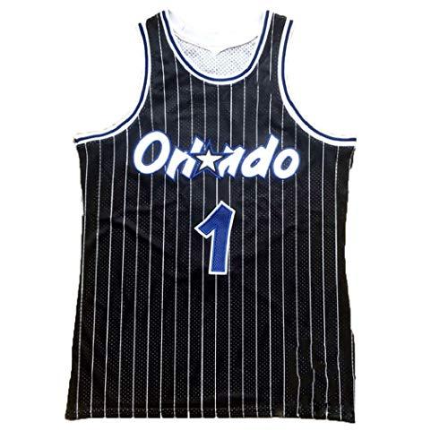 T-Mac 1# Pallacanestro Jersey, Uniforme Tracy McGrady Orlando Magic Basket Maschile, NBA Swingman Maniche Vestiti di addestramento, Full Size (Size : S)