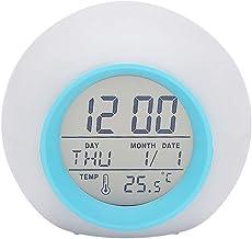 Btuty Multi-funcional LED Despertador de Mesa 7 Cores Mudando de Despertador Digital Relógio Tocando Controle Criança Luz ...