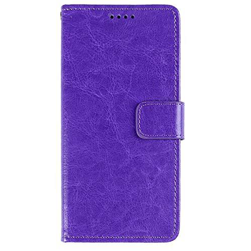 WODETIAN Compatible con iPhone 12 / 12Pro / 12 Pro MAX Piel Sintética Funda De Libro Funda para Teléfono Funda Tipo Cartera Función Atril Cierre Magnético Ranura para Tarjeta,Púrpura,12pro MAX
