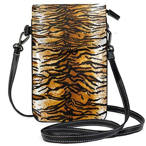 ClownFish Animal Tiger Print Retro Mini bolsos de hombro cruzados Monedero para celular Billetera Bolsa Bolso...
