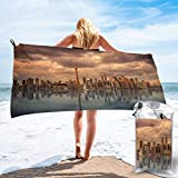 XCVNBX Microfiber Quick Dry Towel Toronto Skyline Waters Sunset Dawn Reflection 31.5'x63' Microfiber Towel Beach Towel- Ultra Compact Suitable For Camping Gym Beach Swimming Backpacking