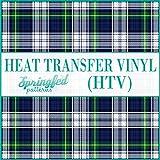 TARTAN PLAID Pattern #2 Heat Transfer Vinyl 12'x14' Sheet of HTV for Shirts Blue & White Plaid