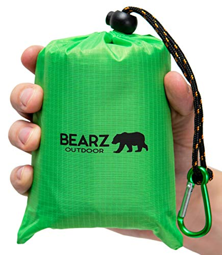 BEARZ Outdoor Pocket Blanket Picnic Mat, Outdoor Blanket Waterproof Park Blanket, Travel Blanket,...