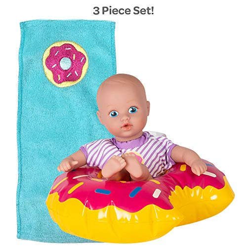 Adora Water Baby Doll, SplashTime Baby Tot Sprinkle Donut 8.5 inch Doll for Bathtub/Shower/Swimming Pool Time Play, Multi-color