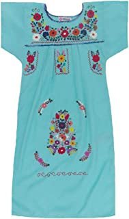 Mexican Clothing Co Girls Mexican Dress Traditional Tehuacan Poplin CT
