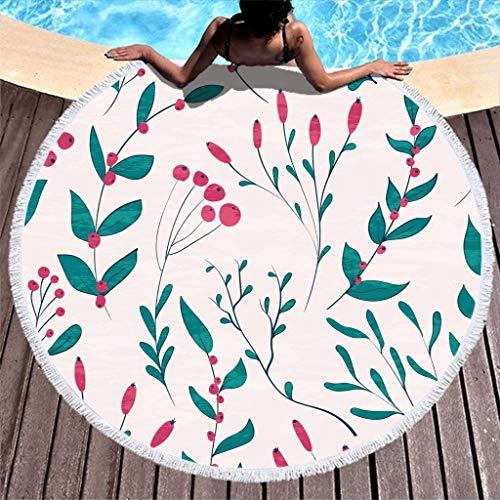 Zhenxinganghu strandhanddoeken, oversized dikke strandlaken, bloemen, planten, strandlaken, picknickmat, voor buiten, ultrazacht, strand en zwembad