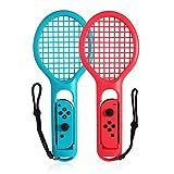 Goolsky Raqueta de Tenis Twin Pack para N-Switch Joy-con Controladores para Mario Tennis Games