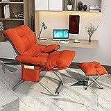 ZSCC Silla perezosa engrosada, silla de oficina, silla para juegos con bolsa de almacenamiento y asiento de pedal, suave y cómoda, silla de escritorio Boss, silla ergonómica para computadora, regalos