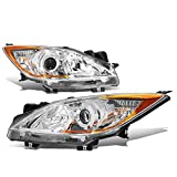 Pair Chrome Housing Amber Corner Projector Headlight Headlamps Replacement for Mazda 3 Hatchback/Sedan 10-13