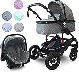 VCM Kombi - sprehajalci, sprehajalci 2in1 ali 3in1'VCK Kidax '3in1 - z otroškim sedežem: antracit