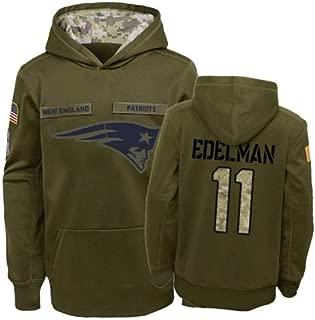 Littlearth New England Patriots #11 Julian Edelman Salute to Service Hoodie Men L