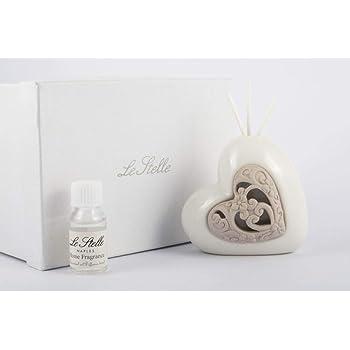 Bomboniere Matrimonio Profumatore Cuore Porcellana con Box DGS51349