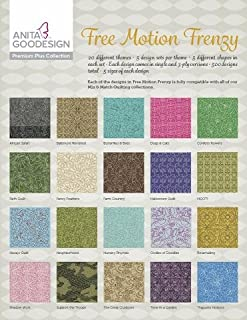Anita Goodesign Embroidery Designs - Free Motion Frenzy - Premium Plus Collection