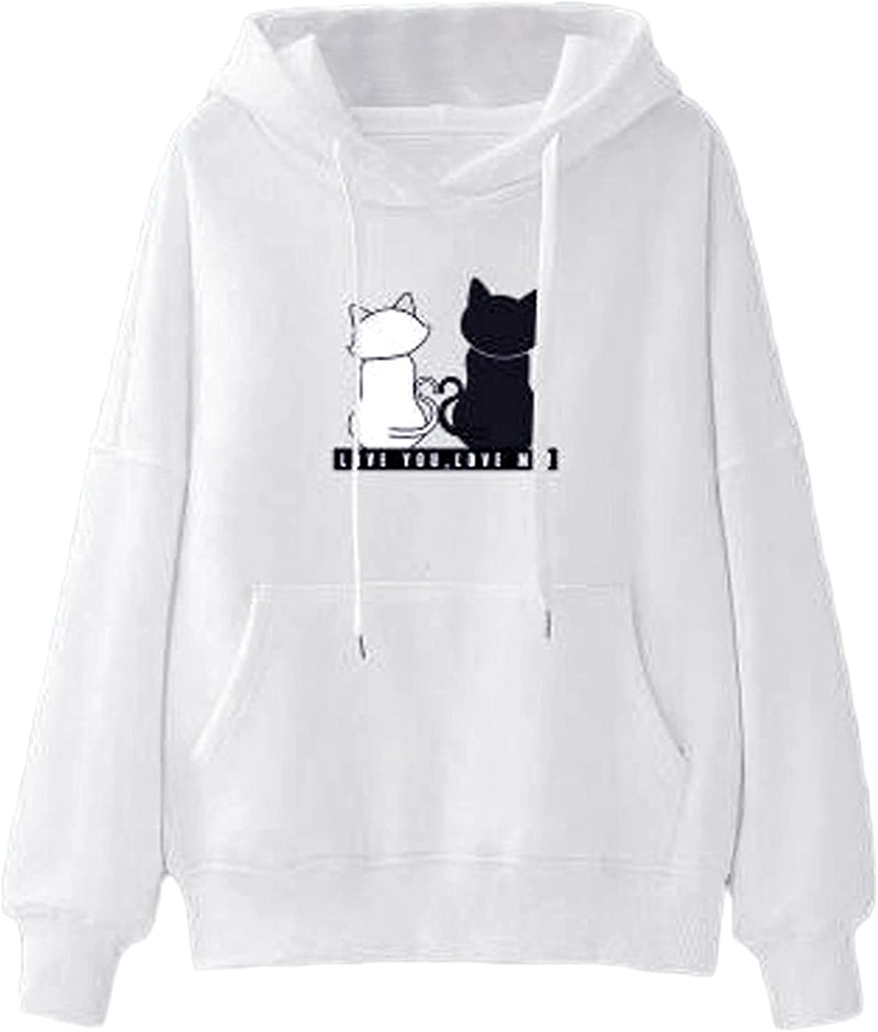 Women's Casual Cute At Cheap mail order specialty store the price Cartoon Animal Sleeve Pullover Ho Print Long