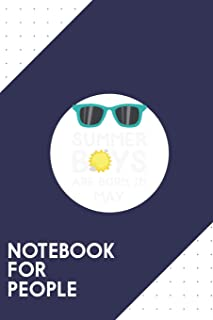 Notebook for People: Dotted Journal with Summer Boys in MAY Design - Cool Gift for a friend or family who loves happiness ...