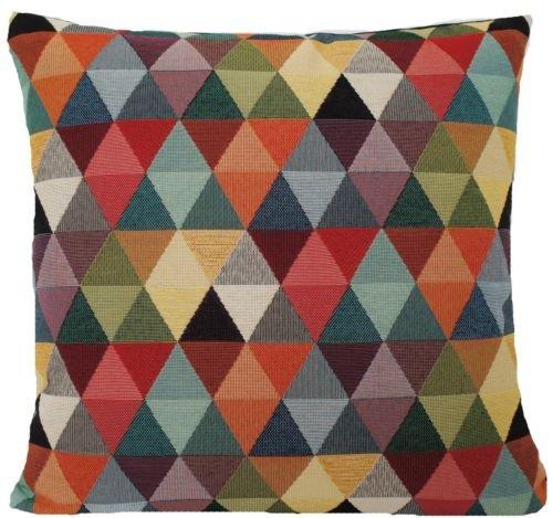 50,8 cm Oriental Housse de coussin Coton Tissé Tissu Harlequin carré Noir Rouge Vert Designers B