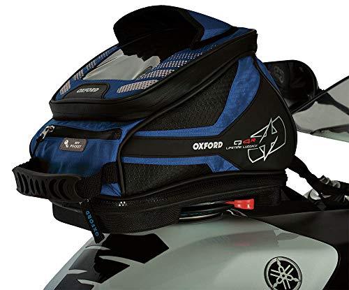 Oxford OL292 Tankrucksack (Q4R Quick Release Motorrad), blau, 4 L