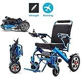 HJH silla de ruedas plegable eléctrico de ancianos minusválidos Ayuda de coches de edad avanzada inteligente automática compacta portátil ligero Vespa libre de la instalación, 23kg (puede apoyar 100Kg