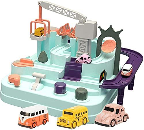 Juguetes para niños Autismo Aventura Juguetes, Juguetes para niños, Juegos de aventura de automóviles, Juguetes de Vehículos Ineeriales Juguetes, Traíz Toy Toy, Racing Educational Toy, Festival Regalo