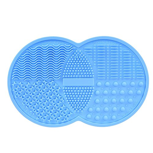 Babysbreath17 Cepillo de Maquillaje Cepillo de Limpieza Cepillo cosmético Cepillo de Limpieza Lavadora de Silicona lavador de succión Taza de succión Azul