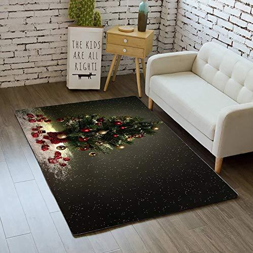 LXT PANDA Alfombra Interior, Decoración navideña Alfombra Larga, Alfombra navideña Sala de Estar Mesa de Centro...