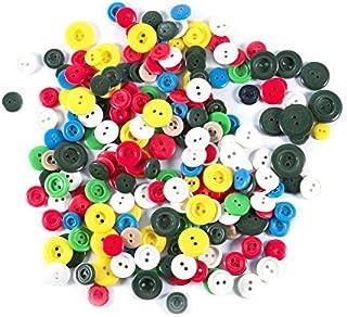 LEDUC 纽扣 100g(约 200) - 各种颜色尺码纽扣 (9mm - 18mm)