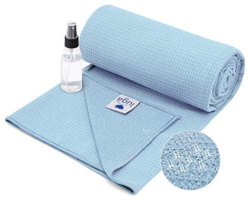 IUGA Yoga Towel Soft Yoga Mat Towel Sweat Absorbent Hot Yoga Towel Spray Bottle Included