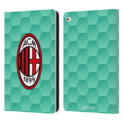 Head Case Designs Officially Licensed AC Milan Home Goalkeeper 2020/21 Crest Kit Leather Book Wallet Case Cover Compatible with Apple iPad Air 2 (2014)
