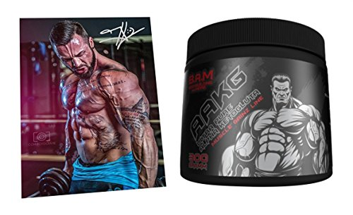 Fan Edition B.A.M. Ultra Pure Arginine ketoglutaraat pompregeneratie aminozuur aminos supplement fitness bodybuilding 300 g